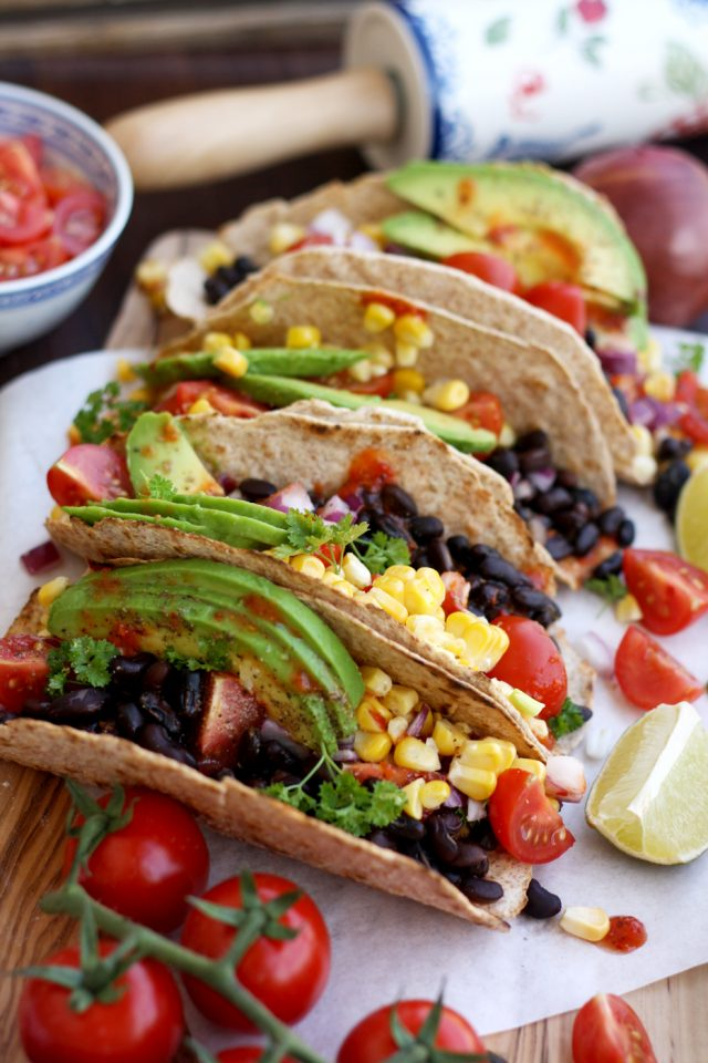 tacos with assorted veggies